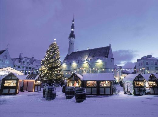 Новогоднее настроение в Нарве зимой