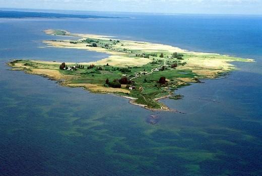 Вид на остров Кихну на фото