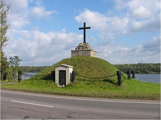 Монумент и памятник военным в Сивертси изображен на снимке