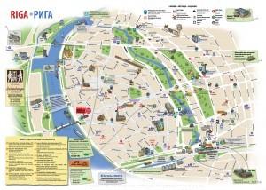 Карта Риги на фото