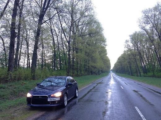 На фото трасса М1 из Белоруссии в Ригу